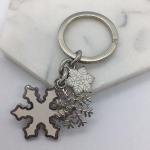 Coach Snowflakes Keychain, NWOT ❄️❄️